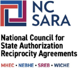 NC SARA logo - national council for state authorization reciprocity agreements logo
